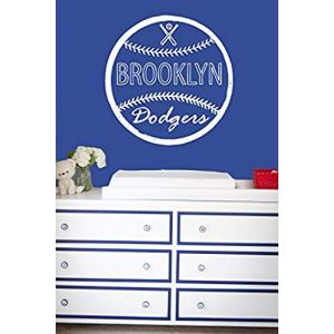 Wall Decal Vinyl Sticker Decals Art Decor Design Baseball Brooklin Dodgers Player Kids Room Children Game Sport Bedroom Nursery GF664