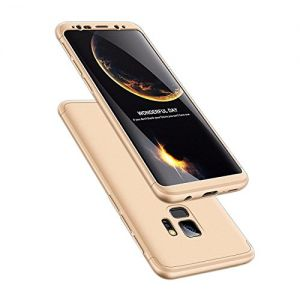 ATRAING Galaxy S9 Case, 3 in 1 Ultra-Thin PC Hard Case Cover for Samsung Galaxy S9 (Gold)