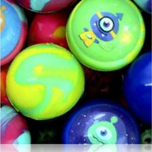 Custom & Unique {27mm} 2000 Bulk Pack, Mid-Size Super High Bouncy Balls, Made of Grade A+ Rebound Rubber w/ Cosmic Swirls UFOs Aliens Planetary Galaxy Interstellar Space Twirled Clouded (Multicolor)