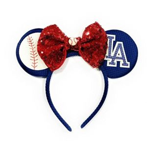 Inspired Minnie Ears Headband Baseball