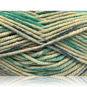 """Fabulous Crafts {480 Total Yards / 400g} 4 Skeins Pack of Durable"""" Size 5 Bulky Thick Chunky"""" Yarn for Knitting, Crochet & More, Made of Acrylic & Polyamide w/Mesh Style {Green, Blue, Khaki }"""