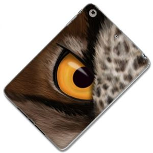 "{Realistic Fur Owl Animal Eye} Soft and Smooth Silicone Case for iPad Mini 1, 2 and 3 by Apple ""Durable and Slim Flexible Fashion Cover with Amazing and Creative Cartoon Design - All Ports Accessible"""