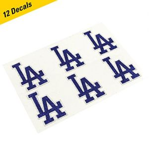 Los Angeles Dodgers MLB Glitter Cheek Decals, Perfect for Game Day and Tailgate (12 Decals)