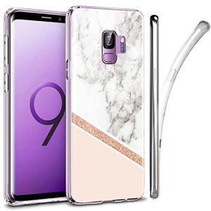 Galaxy S9 Case, ZUSLAB Nebula Pattern Design, Slim Flexible Shockproof TPU, Soft Rubber Silicone Glossy Skin Cover for Samsung Galaxy S9, 2018 (Marble Delux)