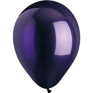 "Custom, Fun & Cool {Big Large 12"" Inch} 48 Pack of Helium & Air Latex Rubber Balloons w/ Modern Gothic Party Decor Design [Dark Purple]"