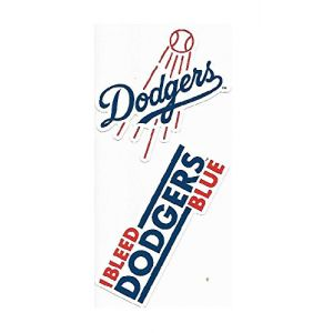 Rico Industries Los Angeles Dodgers Double Up Die Cut Vinyl Stickers