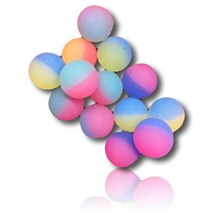Custom & Unique {27mm} 432 Bulk Pack, Mid-Size Super High Bouncy Balls, Made of Grade A+ Rebound Rubber w/ Brilliantly Iced frosted Two-tone Bright Radiantly Vibrant Glowing Warm Neon (Multicolor)