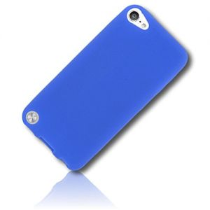 mySimple Custom Made FLEX-Gel Silicone Fitted Case for Apple iPod Touch 5th Gen w/Soft Flexible Shock Absorbing Bumper Guard Edge & Basic Classic Smooth Neon Solid Matte Cobalt Paint Design {Blue}