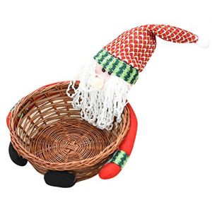 Hot Sales!! ZOMUSA Candy Storage Basket Decoration Santa Claus Storage Basket Christmas Gift (2~A)