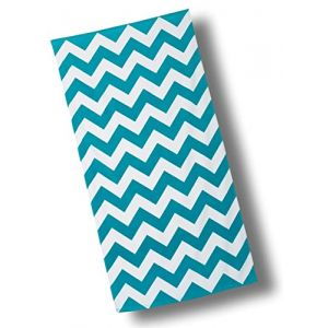 """Custom & Luxurious {30"""" x 60"""" Inch} 1 Single Large & Thin Soft Summer Beach & Bath Towels Made of Quick-Dry Cotton w/ Bold Wide Chevron Stripe Turquoise Lounging Vacation Souvenir Style [Multicolor]"""