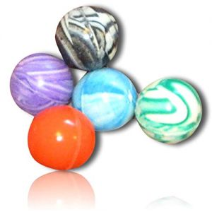 Custom & Unique {27mm} 250 Bulk Pack, Mid-Size Super High Bouncy Balls, Made of Grade A+ Rebound Rubber w/ Bright Rainbow Neon Marble Marbled Swirl Swirled Watercolor Style (Multicolor) + Certificate