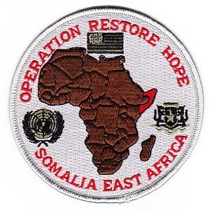 Operation Restore Hope Somalia Patch - Veteran Owned Business