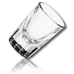 """DROP-RESISTANT & Durable {2.1"""" x 2.7"""" Inch / 1.5 oz} 12 Pack Set of Mid-Size """"Heavy Base"""" Fluted Shot Glass for Drinking, Made of Genuine Hand Blown Glass Timeless Edition For Any Occasion {Clear}"""