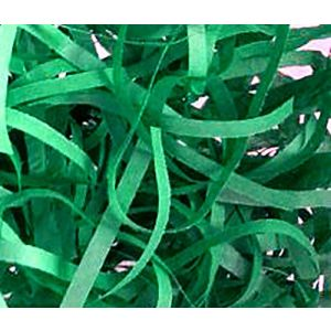 """Custom & Unique {Approx 1/4"""" Inch Wide - 2 Ounces} of Straight Cut Shredded Gift Basket Filler Paper Made From Tissue w/ Deep Jewel Toned Celebratory Fun Spring Holiday Versatile Design (Green)"""