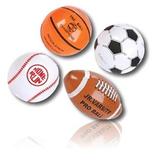 """ULTRA Durable & Custom {6"""" Inch} 48 Wholesale Pack of Small-Size Inflatable Beach Balls for Summer Fun, Made of Lightweight FLEX-Resin Plastic w/ Baseball Basketball Football Soccer Ball {Multicolor}"""