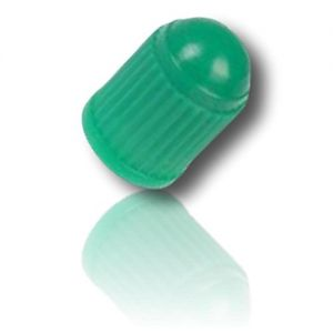 """(24 Count) Cool and Custom """"Plastic Dome Caps with Easy Grip Texture Automotive Cars Accessories Tools """" Tire Wheel Rim Air Valve Stem Dust Cap Seal Made of Genuine Hardened Plastic {Green Color}"""
