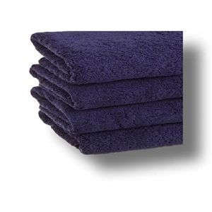 """Custom & Luxurious {30"""" x 60"""" Inch} 5 Bulk Pack of Large & Thick Soft Summer Beach & Bath Towels Made of Quick-Dry Cotton w/ Textured Solid Colored Cabana Hotel Style [Navy]"""