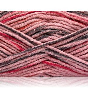 """Fabulous Crafts {480 Total Yards / 400g} 4 Skeins Pack of Durable"""" Size 5 Bulky Thick Chunky"""" Yarn for Knitting, Crochet & More, Made of Acrylic & Polyamide w/Smooth St {Pink, Fuchsia, Dark Grey}"""