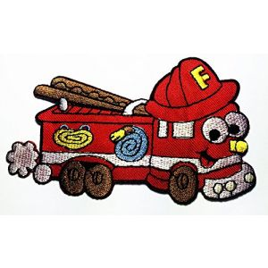 MACK Super-Liner Superliner Truck carrying Lightning McQueen red race car in Cars Pixar Disney Movie logo patch Jacket T-shirt Sew Iron on Patch Badge Embroidery
