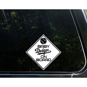"Baby DODGER On Board - 5 3/4""x 5 3/4"" - Vinyl Die Cut Decal / Bumper Sticker For Windows, Trucks, Cars, Laptops, Macbooks, Etc."