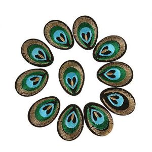Iron On Patches - 20pcs Peacock Eye 3d Embroidered Cloth Iron On Patch Sew Embroidery Eyes Cartoon Badge Garment Motif - Boys Band Rainbow Police Baseball Ucf Harry Anime Music Embroidered