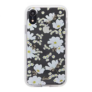 """iPhone XR, Sonix Ditsy Daisy (White Flowers) Cell Phone Case [Military Drop Test Certified] Women's Protective Clear Case for Apple iPhone (6.1"""") iPhone XR"""