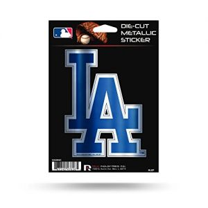 "Rico Industries, Inc. Los Angeles Dodgers Rico 5"" METALLIC DECAL Die Cut Auto Sticker Emblem Baseball"