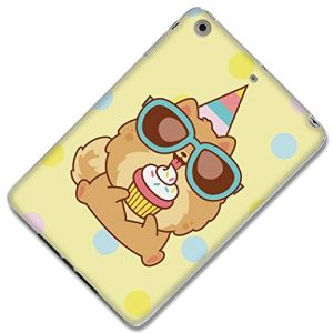 """{Polka Dot Puppy Cupcake Party} Soft and Smooth Silicone Fitted Back Cover Gel Case for iPad Mini 1, 2 and 3 by Apple """"Durable and Slim Flexible Fashion Cover with Amazing and Creative Cartoon Design"""