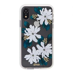 """iPhone XR, Sonix Delilah (White Flowers) Cell Phone Case [Military Drop Test Certified] Women's Protective Clear Case for Apple iPhone (6.1"""") iPhone XR"""
