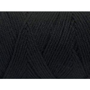 """Fabulous Crafts {720 Total Yards / 400g} 2 Cones Pack of Durable"""" Size 4 Medium Worsted Aran"""" Yarn for Knitting, Crochet & More, Made of 100% Dralon Acrylic w/Pitch Dark Shadow Shade Style {Black}"""